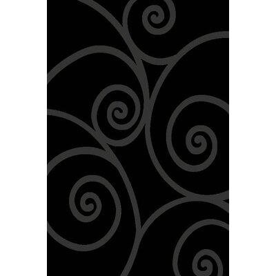 Chapman Gray/Black Indoor/Outdoor Area Rug Rug Size: 5 x 7