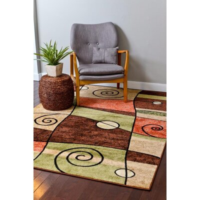 Chapman Tan/Brown Indoor/Outdoor Area Rug Rug Size: 8 x 11