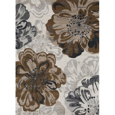 Chapman Ivory/Brown Indoor/Outdoor Area Rug Rug Size: 8 x 10