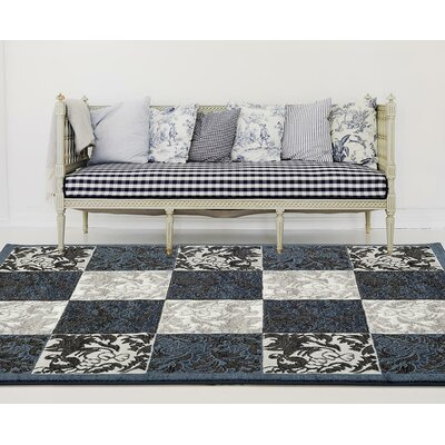 Chapman Blue/Gray Indoor/Outdoor Area Rug Rug Size: 5 x 7