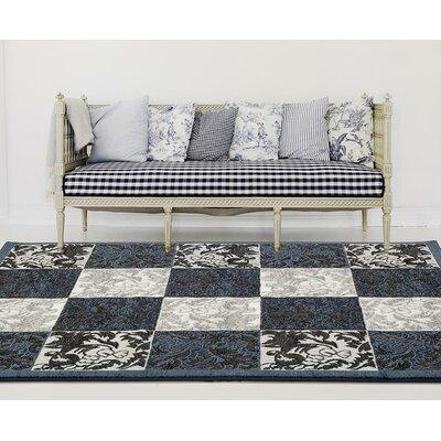 Chapman Blue/Gray Indoor/Outdoor Area Rug Rug Size: 8 x 10