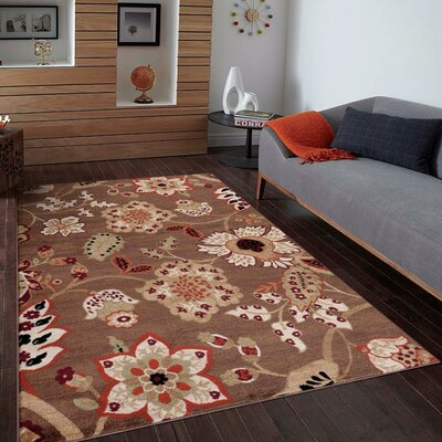 Chapman Brown Indoor/Outdoor Area Rug Rug Size: 52 x 72
