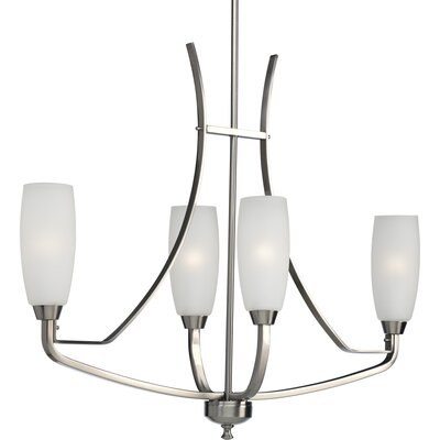 Charleston 4-Light Shaded Chandelier Finish: Brushed Nickel