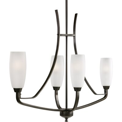 Charleston 4-Light Shaded Chandelier Finish: Antique Bronze