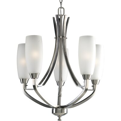 Charleston 5-Light Shaded Chandelier Finish: Brushed Nickel