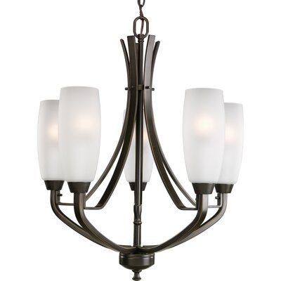 Charleston 5-Light Shaded Chandelier Finish: Antique Bronze