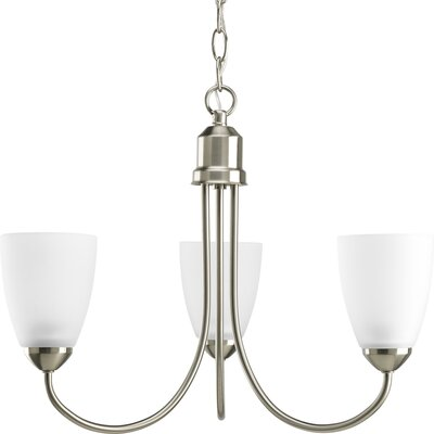 Charlottesville 3-Light Shaded Chandelier Finish: Brushed Nickel