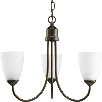 Charlottesville 3-Light Shaded Chandelier Finish: Antique Bronze
