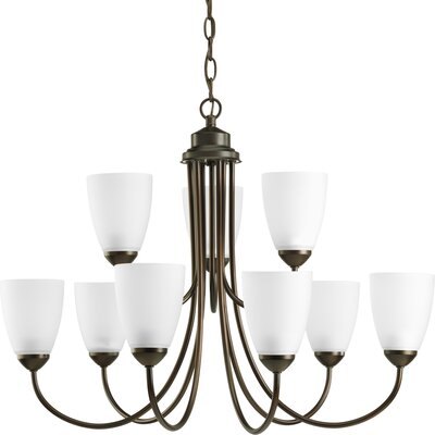 Charlottesville 9-Light Shaded Chandelier Finish: Antique Bronze