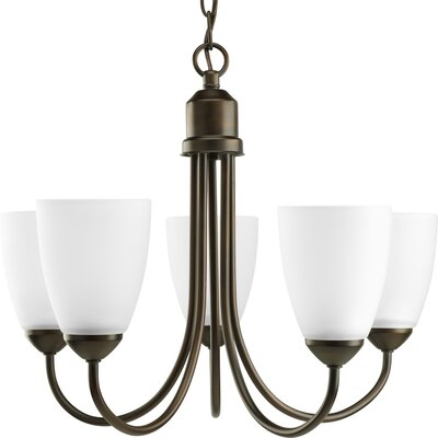 Charlottesville 5-Light Shaded Chandelier Finish: Antique Bronze