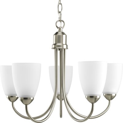 Charlottesville 5-Light Shaded Chandelier Finish: Brushed Nickel