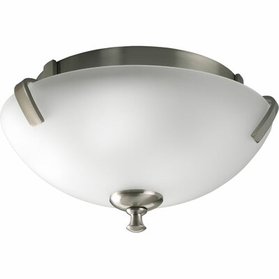 Charleston 2-Light Close-To-Ceiling Flush Mount Finish: Brushed Nickel
