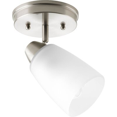 Charleston 1-Light Semi-Flush Mount Finish: Brushed Nickel