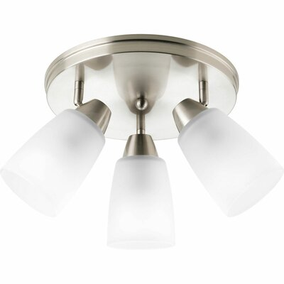 Charleston 3-Light Semi-Flush Mount Finish: Brushed Nickel
