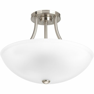 Charlottesville 2-Light Semi-Flush Mount Finish: Brushed Nickel