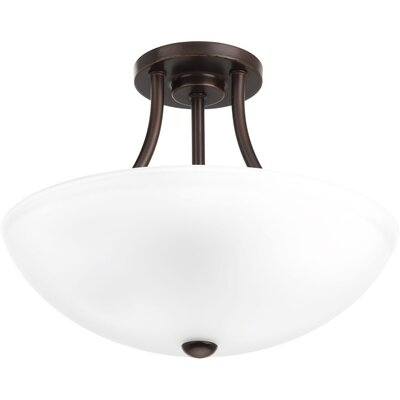 Charlottesville 2-Light Semi-Flush Mount Finish: Antique Bronze