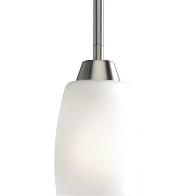 Charleston 1-Light Mini Pendant Finish: Brushed Nickel - Energy Star