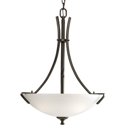 Charleston 3-Light Inverted Pendant Finish: Antique Bronze
