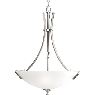 Charleston 3-Light Inverted Pendant Finish: Brushed Nickel