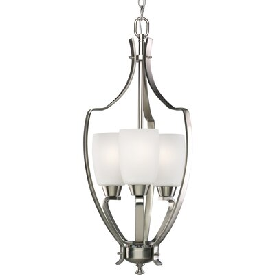 Charleston 3-Light Foyer Pendant Finish: Brushed Nickel
