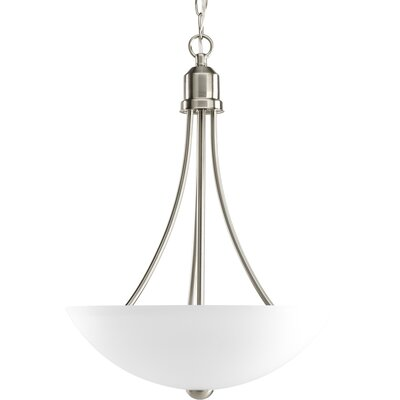 Charlottesville 2-Light Hall and Foyer Inverted Pendant Finish: Brushed Nickel, Energy Star: Yes