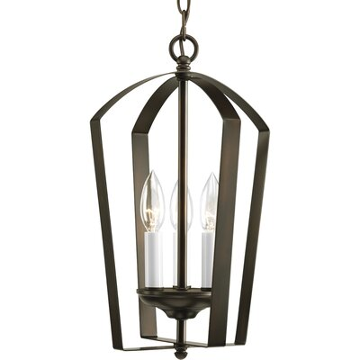 Charlottesville 3-Light Hall and Foyer Pendant Finish: Antique Bronze