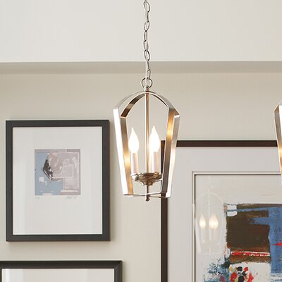 Charlottesville 3-Light Hall and Foyer Pendant Finish: Brushed Nickel