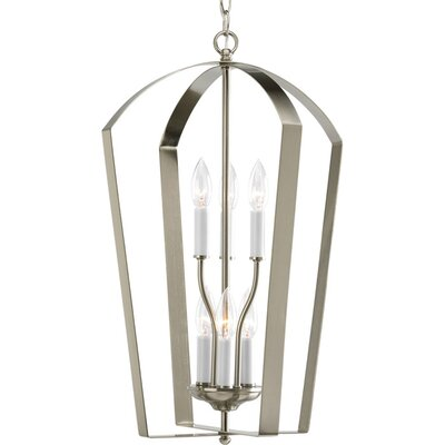 Charlottesville 6-Light Hall and Foyer Pendant Finish: Brushed Nickel
