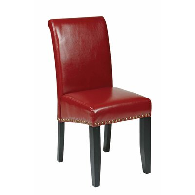 Chesterhill Upholstered Dining Chair Upholstery: Crimson Red