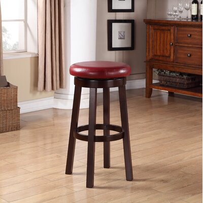 Chesterhill 30.25 Bar Stool with Cushion Upholstery: Red
