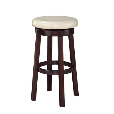 Chesterhill 30.25 Bar Stool Upholstery: Cream