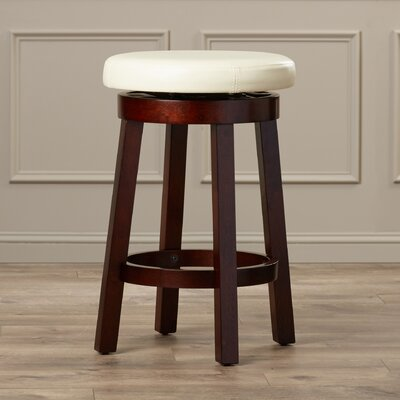 Chesterhill 24 Bar Stool Upholstery: Cream