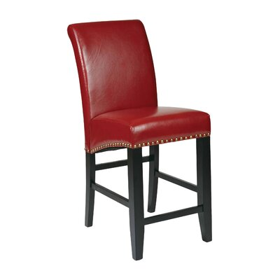 Chesterhill 24 Bar Stool Upholstery: Crimson Red