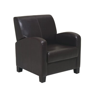 Chesterhill Armchair and Ottoman Color: Dark Brown