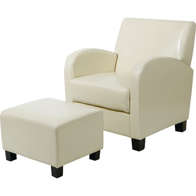 Chesterhill Armchair and Ottoman Color: Cream