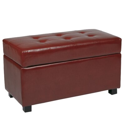 Chesterhill Storage Ottoman Upholstery: Crimson Red