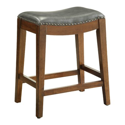 Chesterhill Bar Stool Upholstery: Pewter