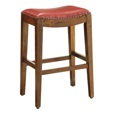 Chesterhill Bar Stool Upholstery: Cranberry