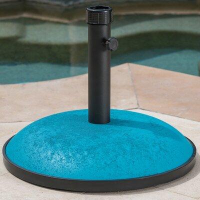 Burtt 66 lbs Concrete Free Standing Umbrella Base Color: Teal Concrete
