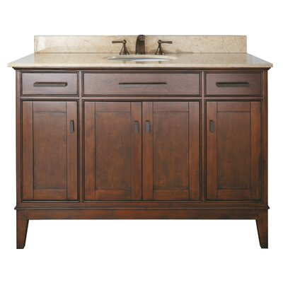 Chesterville 49 Single Bathroom Vanity Set Base Finish: Tobacco, Top Finish: Galala Beige