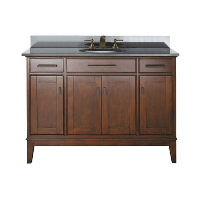 Chesterville 49 Single Bathroom Vanity Set Base Finish: Tobacco, Top Finish: Black Granite