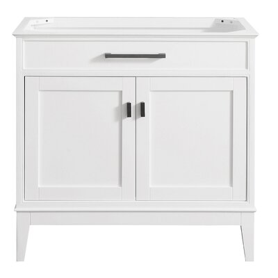 Chesterville 36 Bathroom Vanity Base Finish: White
