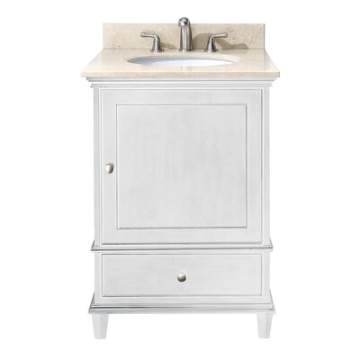 Chippewa 25 Single Bathroom Vanity Set Base Finish: White