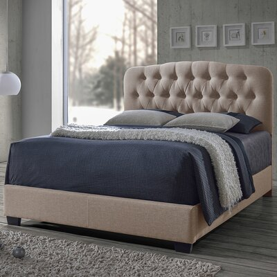 Carnegie Upholstered Panel Bed Size: King, Color: Brown