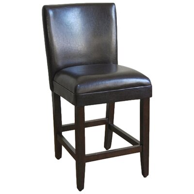 Clifton 24 Bar Stool Upholstery: Brown