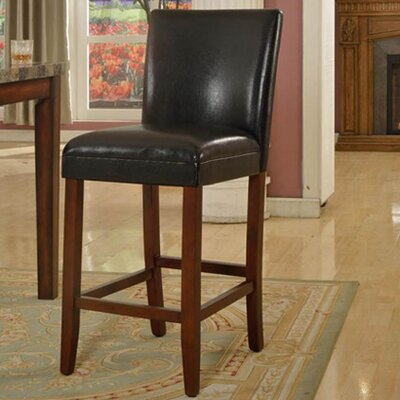 Clinton 29 Bar Stool Upholstery: Black