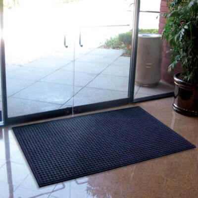 Cloverdale Doormat Color: Indigo Blue, Size: Rectangle 4 x 6