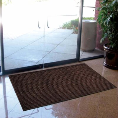 Cloverdale Doormat Color: Walnut, Size: Rectangle 3 x 5