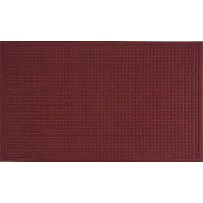 Cloverdale Doormat Color: Red / Black, Size: 2 x 3