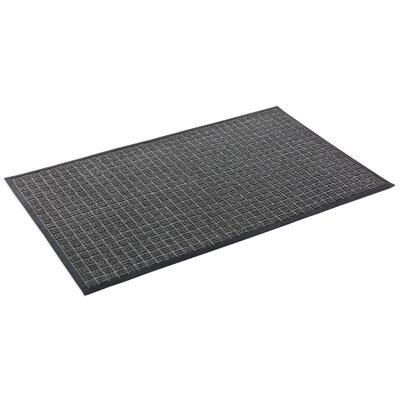 Cobham Water Retainer Rubber Doormat Rug Size: Rectangle 3 x 5, Color: Black